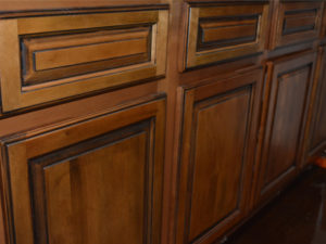 Wood cabinetry in The Livery Apartments in Downtown Winston-Salem